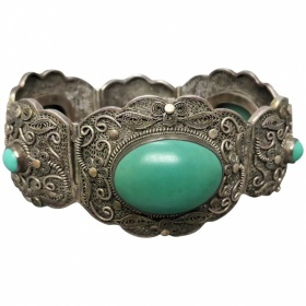vintage-1930s-chinese-export-chunky-filigree_turquoise-bracelet Beryl Lane - Shop by category