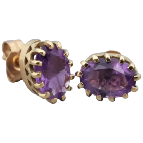 vintage-gold-natural-amethyst-stud-earrings_62305508 Beryl Lane - Shop by category