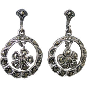 vintage-marcasite-silver-earrings Beryl Lane - Shop by category