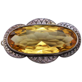 vintage-sterling-silver-large-citrine-brooch Beryl Lane - Shop by category
