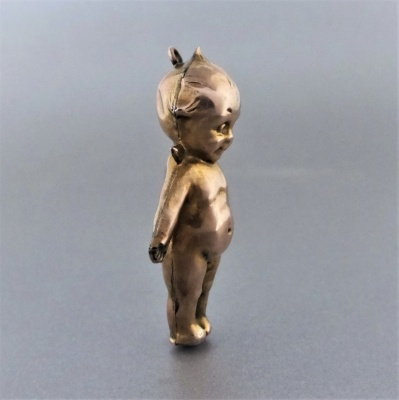 antique-gold-kewpie-pendant_5 Beryl Lane - Antique Large 9ct Gold Kewpie Doll with Angel Wings Charm Pendant