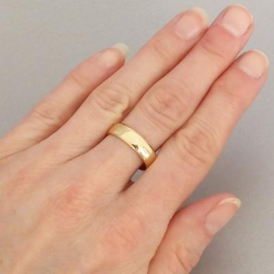 Estate Plain 18ct Yellow Gold 5 4mm Wedding Band 1 Beryl Lane