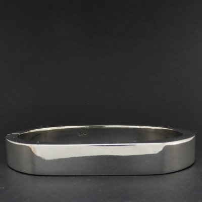 p1090137 Beryl Lane - Ladies Sterling Silver Contemporary Bangle, 10mm wide