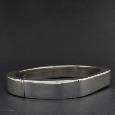 p1090138 Beryl Lane - Ladies Sterling Silver Contemporary Bangle, 10mm wide