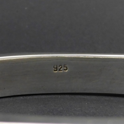 p1090147 Beryl Lane - Ladies Sterling Silver Contemporary Bangle, 10mm wide