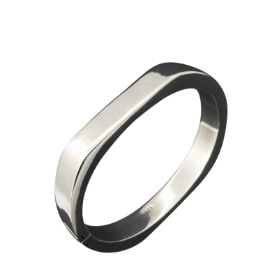 sterling_silver_bangle Beryl Lane - Ladies Sterling Silver Contemporary Bangle, 10mm wide