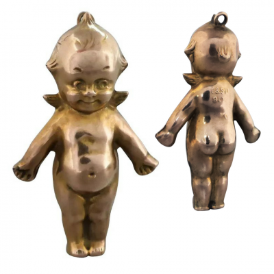 untitled_design_50 Beryl Lane - Antique Large 9ct Gold Kewpie Doll with Angel Wings Charm Pendant