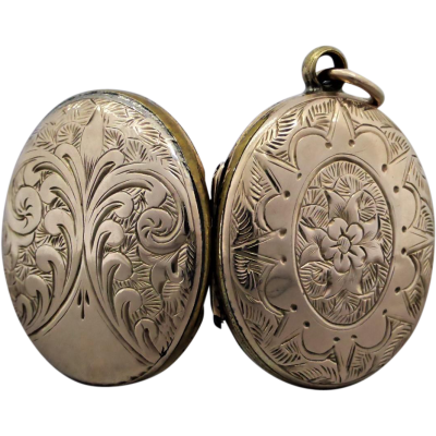 victorian-engraved-mourning-hair-locket Beryl Lane - Antique Victorian Hand Engraved Mourning Locket Enclosed with Weaved Hair