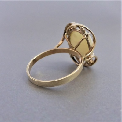 vintage-opal-gold-ring_1 Beryl Lane - Vintage Retro 60's Australian Solid White Opal & CZ Ring in 9ct Gold
