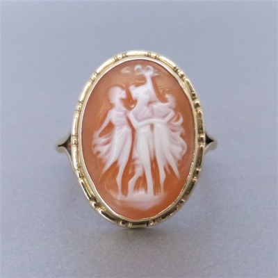 vintage_cameo-ring-for-sale_52896510 Beryl Lane - Vintage 9ct Gold Three Graces Cameo Ring