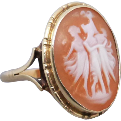 Beryl lane vintage 9ct gold three graces cameo ring vintage three graces cameo ring aloadofball Choice Image