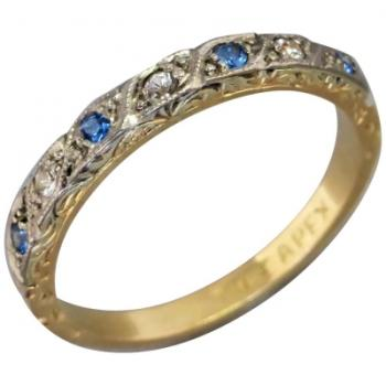vintage-art-deco-18k-yellow-white-gold-spinel-ring-