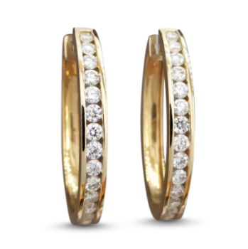 estate-diamond-hoop-earrings
