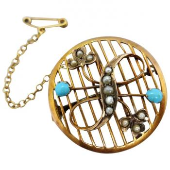 antique-edwardian-turquoise-pearl-brooch-pendant