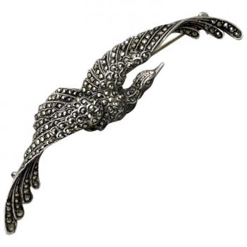 vintage-art-deco-german-sterling-silver-marcasite-bird-brooch