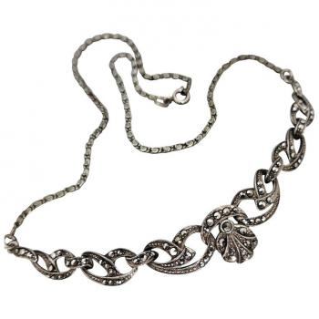 vintage-art-deco-sterling-marcasite-necklace