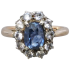 antique-edwardian-unheated-sapphire-cluster-ring
