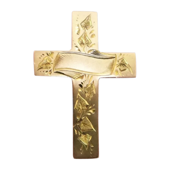 antique-9k-gold-cross-brooch-beautiful-hand_engraving