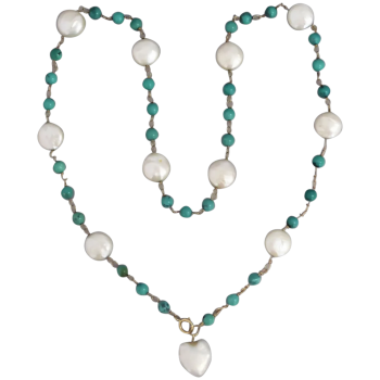 vintage-14k-gold-natural-turquoise-freshwater-pearl_necklace