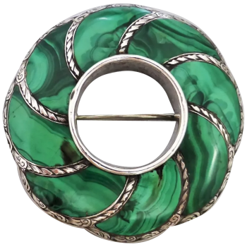 antique-scottish-malachite-brooch