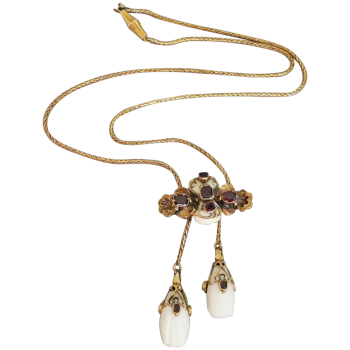 antique-victorian-14k-gold-conch-pearl-garent-shell-necklace