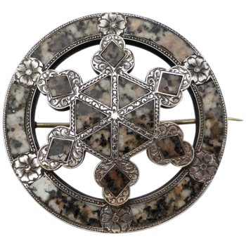 victorian-scottish-sterling-silver-aberdeen-granite-brooch